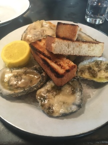 Charred Oysters at Leon's Oyster Shop